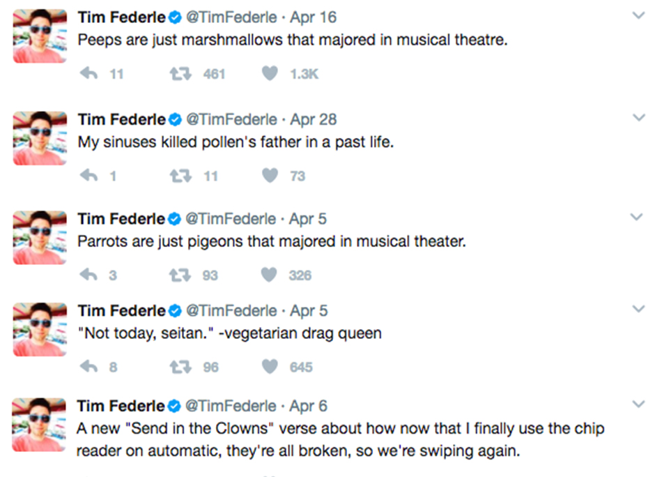 Tim Federle Tweets