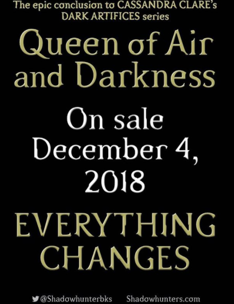 Queen of Air and Darkness Release Day