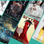 sci fi books for teens: The Diabolic, Sky Without Stars, Girls with Sharp Sticks, Rabbit & Robot, Want, Fate of Flames, Scythe, The Program.